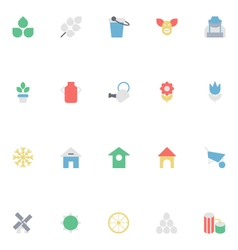 Agriculture Colored Icons 1 vector image