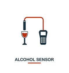Alcohol sensor icon from sensors icons collection vector