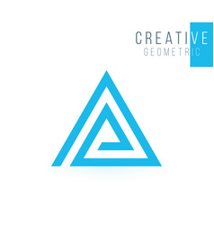 Ap company group linked letter triangle logo vector