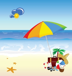 Beach with stuff art vector
