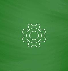 Bearing computer symbol vector image