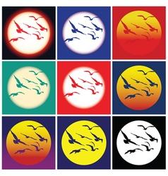 Birds in the sun vector image