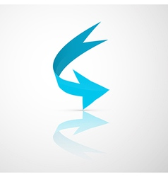 Blue Abstract 3d Arrow Icon vector