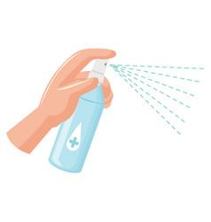 Bottle alcohol spay vector
