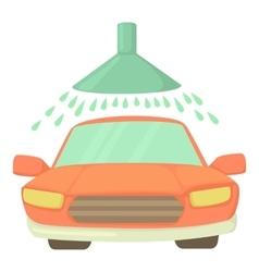 Car wash icon cartoon style vector image