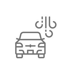 car washing machine line icon isolated on white vector image