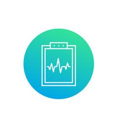Cardiogram linear icon vector