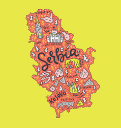 Cartoon serbia map vector