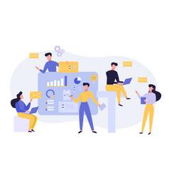 colleagues teamwork brainstorm flat vector image