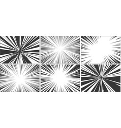 comic book motion effect black and white vector image