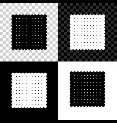 cookie icon isolated on black white and vector image