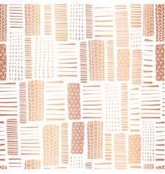 Copper foil textured rectangle seamless pattern vector