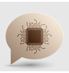 CPU Microprocessor Brown gradient vector