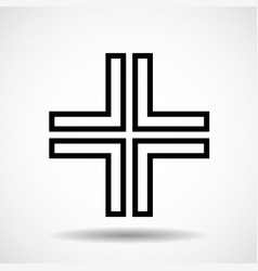 Cross christian symbol sign of lines vector