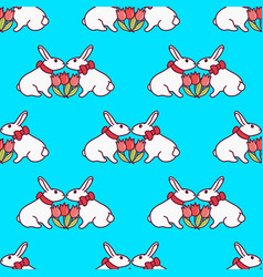 easter bunny seamless pattern9 vector image