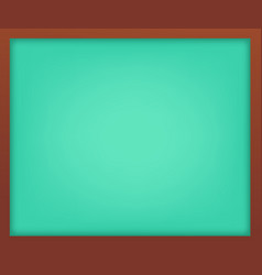 empty light green school chalkboard with frame vector image