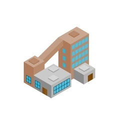 Factory isometric 3d icon vector image