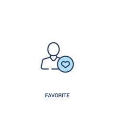 Favorite concept 2 colored icon simple line vector