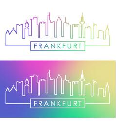 Frankfurt skyline colorful linear style editable vector