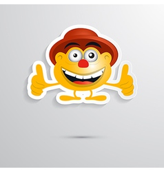 Funny Orange Man with Hat Made from Paper Icon vector