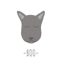 funny wolf retro styleboo phrase vector image