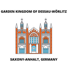 Garden kingdom of dessau-worlitz saxony-anhalt vector