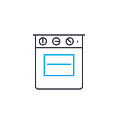 gas stove linear icon concept gas stove line vector image