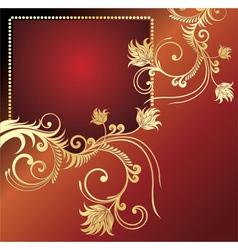 golden card vector image