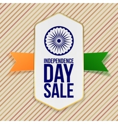 Independence Day Sale Emblem with Ribbon vector