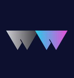 Initial alphabet letter ww w w logo company icon vector