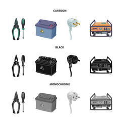 isolated object of electricity and electric sign vector image