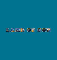 Lamb of god concept word art vector