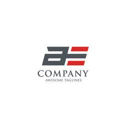 Letter ae modern sport logo a logo vector