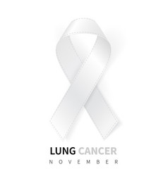 lung cancer awareness month realistic white vector image
