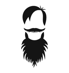 Male avatar with beard icon simple style vector image