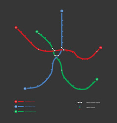 metro map vector image
