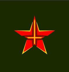 Military star symbol vector