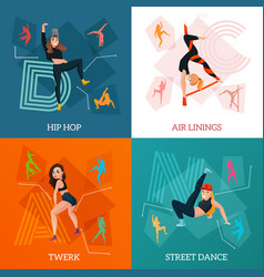 Modern dance types concept vector