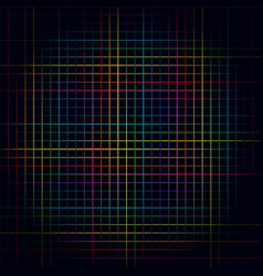 multicolored lines colorful grids background vector image