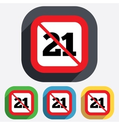 No 21 years old sign Adults content vector