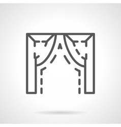 Ogee arch element simple line icon vector image