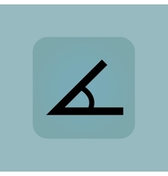 Pale blue angle icon vector