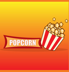 Popcorn design card vector