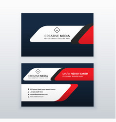 professional business card design template in red vector image