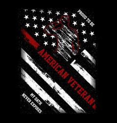 Proud to be american veteran vector