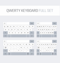 Qwerty keyboard full set vector