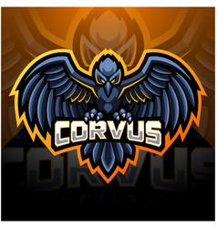 Raven sport mascot logo design vector
