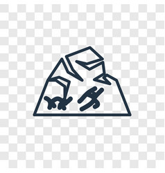rock art concept linear icon isolated on vector image