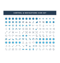 set control and navigations icon with filled vector image