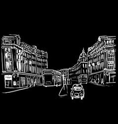 sketch of regent street vector image